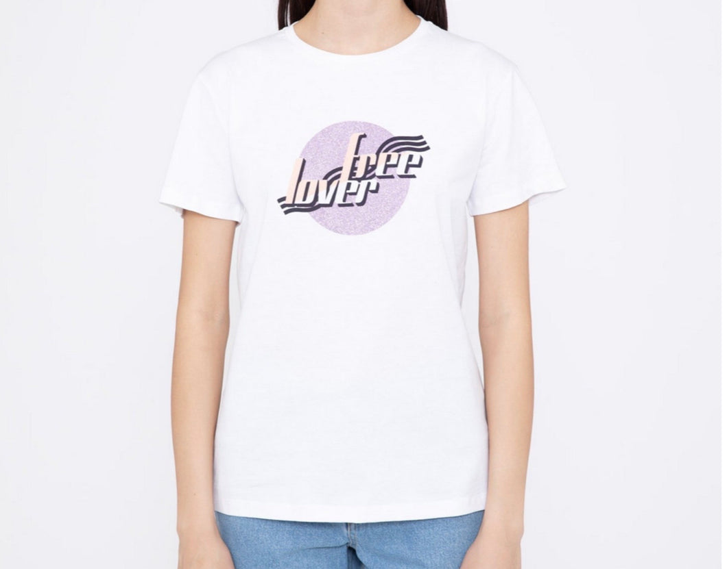 S H Love Free Lover Graphic White T-Shirt - Studio D Shoe Boutique