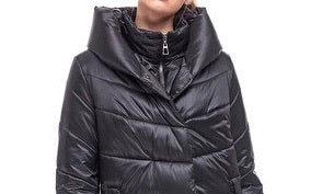 Nadin Mid Puffer Black Quilted Coat