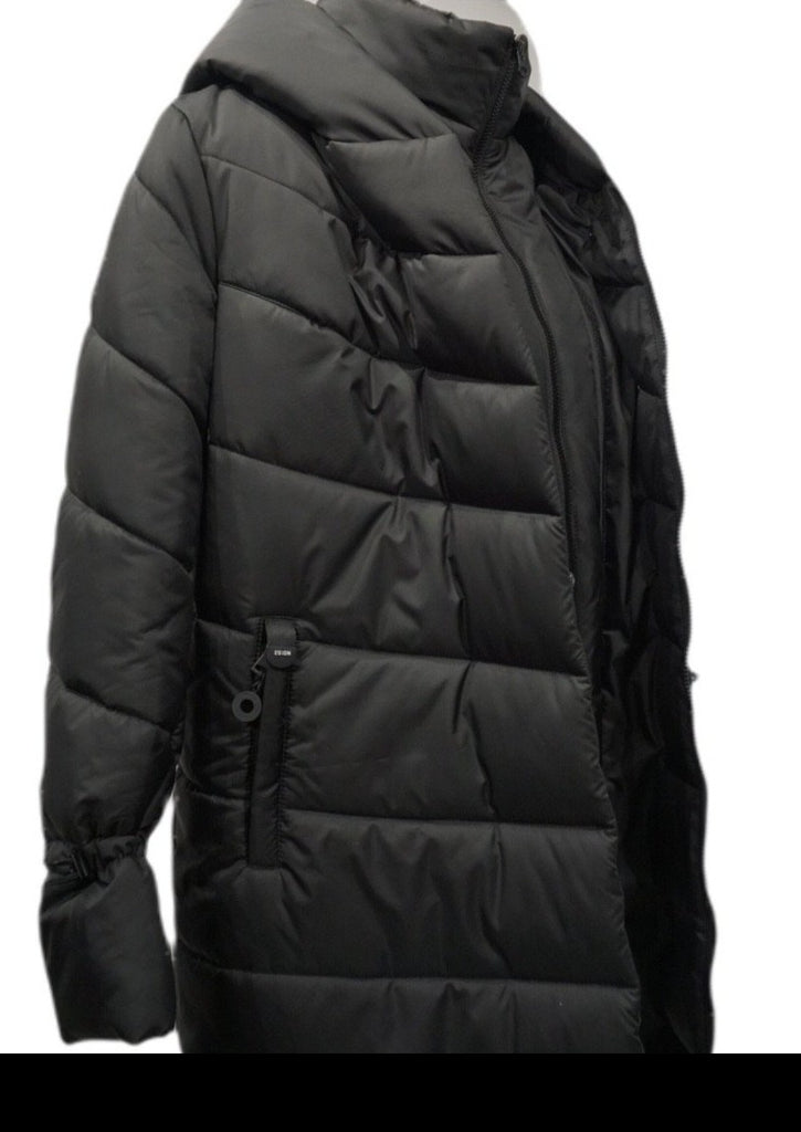 Nadin Mid Puffer Black Quilted Coat - Studio D Shoe Boutique