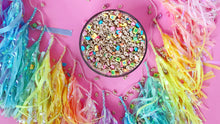 Lucky Charms Tassel garland (Iridescent Pastel Rainbow- Ready to Hang)
