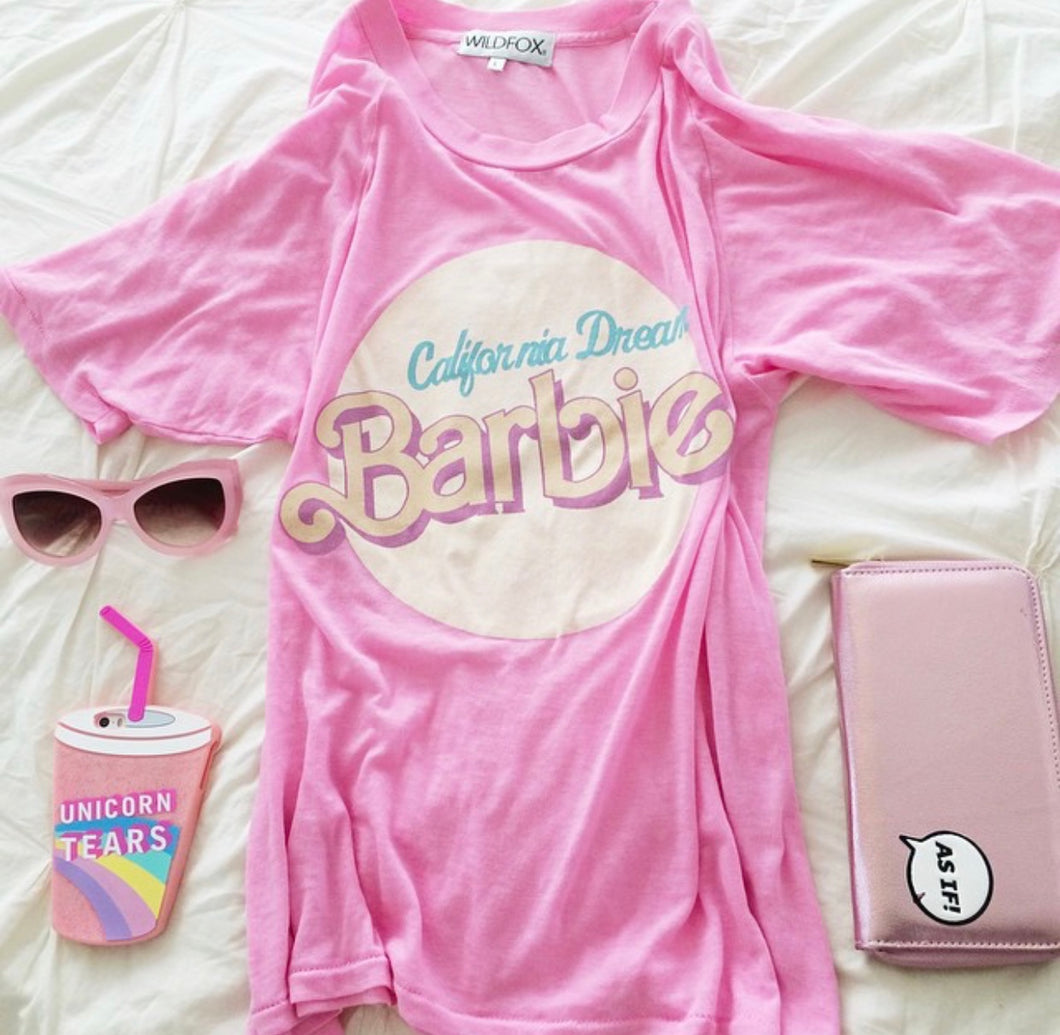 Wildfox California Dream Barbie Pink Perfect Tee