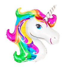 Unicorn Foil Mylar Balloon (Rainbow)