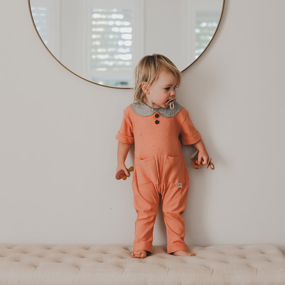 Ribbed Peter Pan Jumpsuit - kisschaseydesigns
