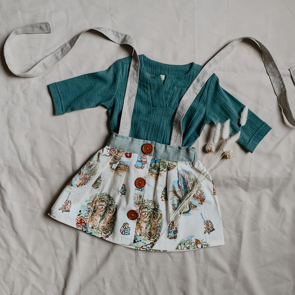 Vintage Peter Rabbit Suspender Skirt