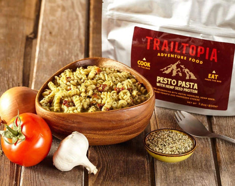 Pesto Pasta with Hemp Seed Protein - Wi-Buy