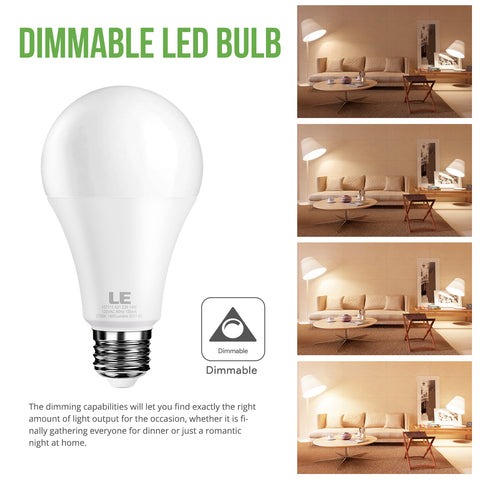 14W Dimmable Warm White LED Light Bulb 8 Pack - Wi-Buy