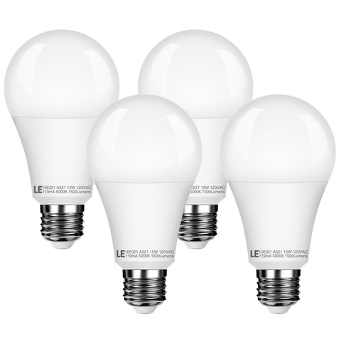 15W Dimmable LED Light Bulb 4 Pack - Wi-Buy