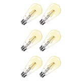 Lighting Ever | 4W Dimmable LED Filament Edison Style Bulb 6 Pack - Wi-Buy