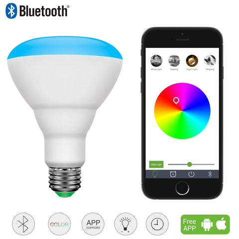 10W LED Multicolor Bluetooth Dimmable LED Bulbs - Wi-Buy
