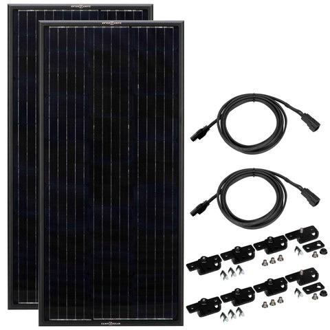 OBSIDIAN 200 WATT SOLAR PANEL KIT (2 X 100) - Wi-Buy