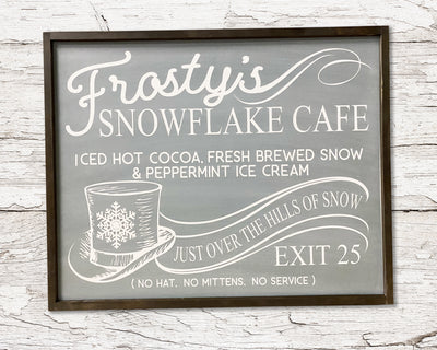 READY TO SHIP Frosty's Snowflake Cafe