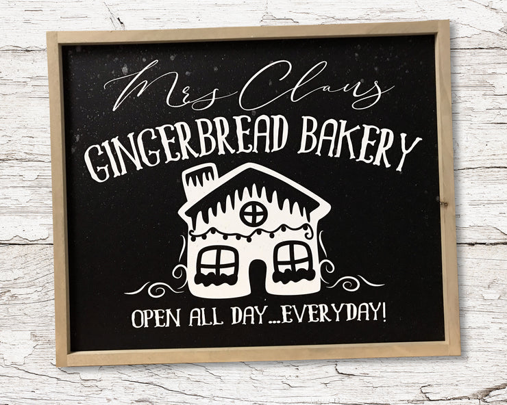 READY TO SHIP Gingerbread bakery <br>( PAINTED WOOD SIGN )
