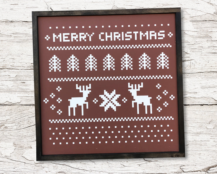 READY TO SHIP Ugly Sweater <br>( PAINTED WOOD SIGN )