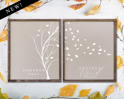 Another fall Another turned page (set of 2)
