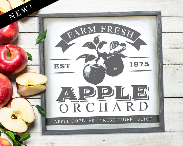 Farm fresh apple orchard