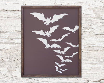 Bats - Painted Wood Sign