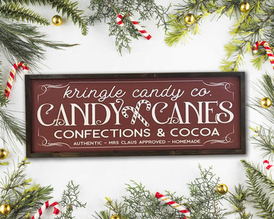 READY TO SHIP Candy Cane Co. <br>( PAINTED WOOD SIGN )