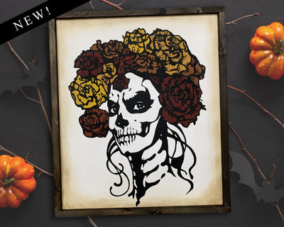 Day of the dead - RECTANGLE<br> ( COLORS CUSTOMIZABLE )
