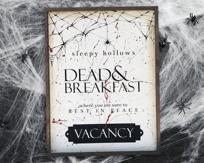 Sleepy hallows dead & breakfast where you are sure to rest in peace VACANCY