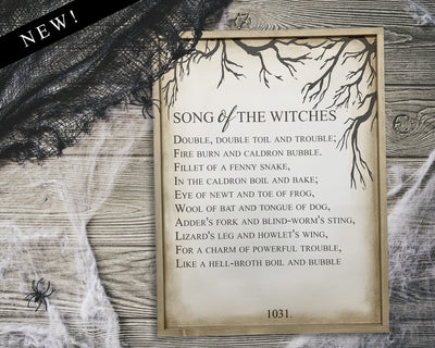 Song of the Witches - Double Double Toil and Trouble<br> ( COLORS CUSTOMIZABLE )