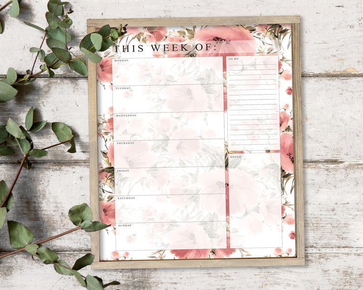 Dusty Meadow (Dry Erase Board) - Weekly Calendar