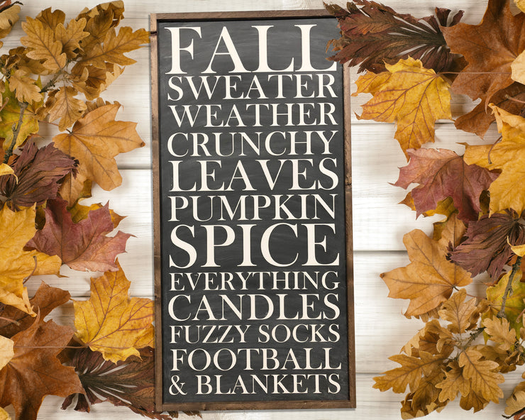 Fall sweater weather crunchy leaves pumpkin spice everything candles fuzzy socks football & blankets<br> ( COLORS CUSTOMIZABLE )
