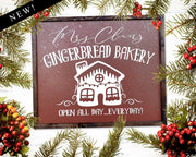 Gingerbread Bakery <br> ( CANVAS FLOAT )