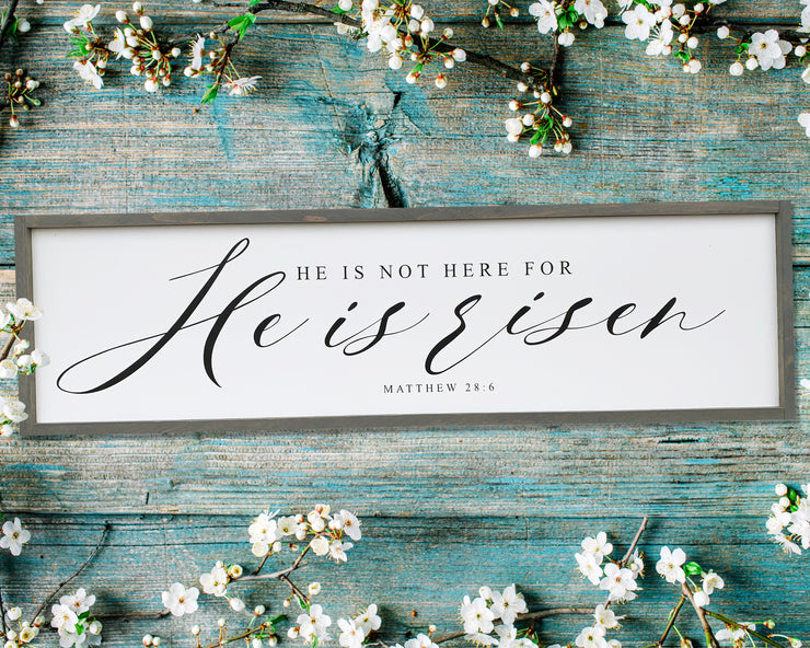 He is not here for He is risen Matthew 28:6