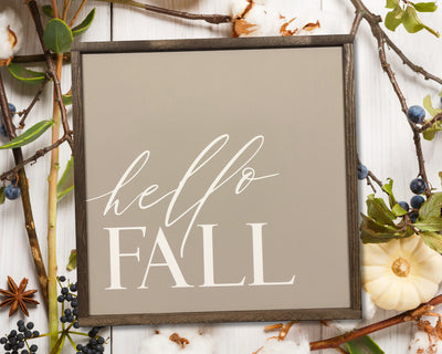 Hello fall<br> ( COLORS CUSTOMIZABLE )