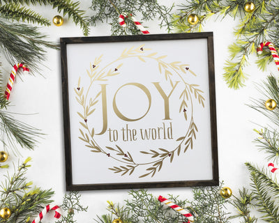 READY TO SHIP Joy to the World <br>( PAINTED WOOD SIGN )