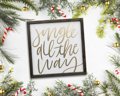 READY TO SHIP Jingle all the way <br>( PAINTED WOOD SIGN )
