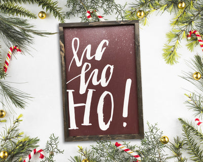 READY TO SHIP Ho ho ho <br>( PAINTED WOOD SIGN )