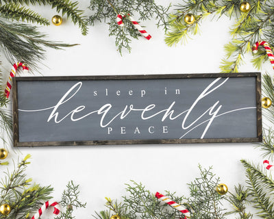 READY TO SHIP Sleep in Heavenly Peace <br>( PAINTED WOOD SIGN )