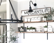 Mercantile & Trading Co.<br> ( PRINTED WOOD SIGN )