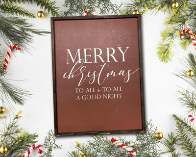READY TO SHIP Merry Christmas to all and to all a good night <br>( PAINTED WOOD SIGN )