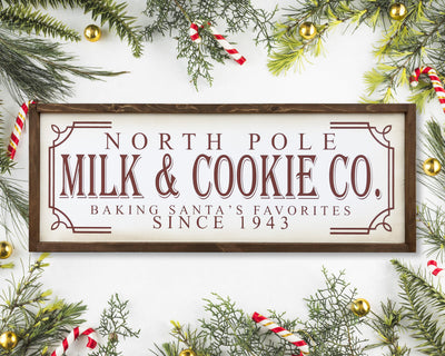 READY TO SHIP Milk and Cookie <br>( PAINTED WOOD SIGN )
