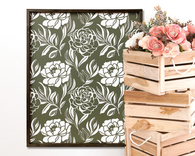 Peony Collage - Painted Wood Sign
