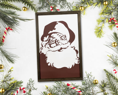 READY TO SHIP Retro Santa <br>( PAINTED WOOD SIGN )