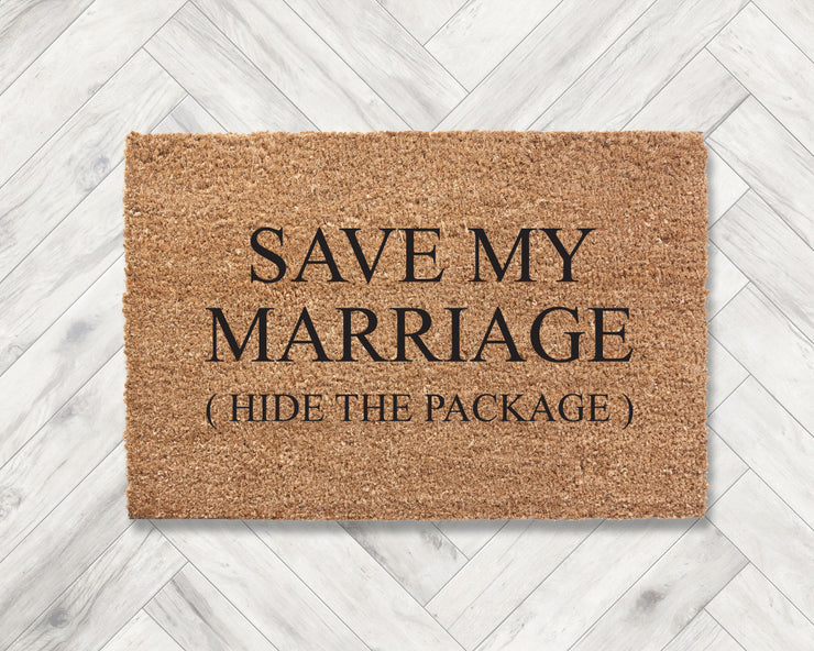 Save my marriage (hide the package)