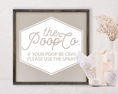 The Poop Co. If your poop be cray please use the spray