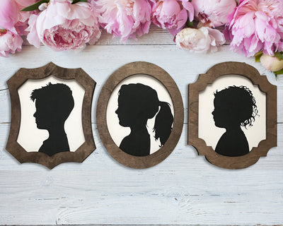 Three silhouettes