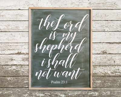 The Lord is my shepherd I shall not want Psalm 23:1