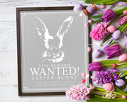 Wanted! Easter Bunny<br> ( COLORS CUSTOMIZABLE )