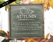 Autumn Where the air is crisp...<br> ( COLORS CUSTOMIZABLE )