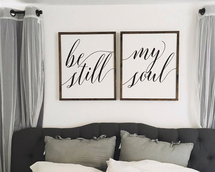 Be still my soul (set of 2)