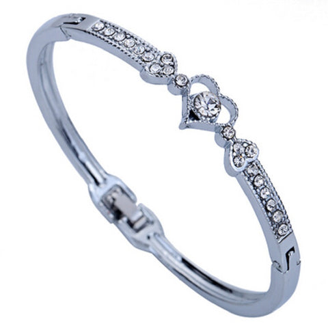 Silver Plated Crystal Bracelet for $7.28 at Tangled Teez
