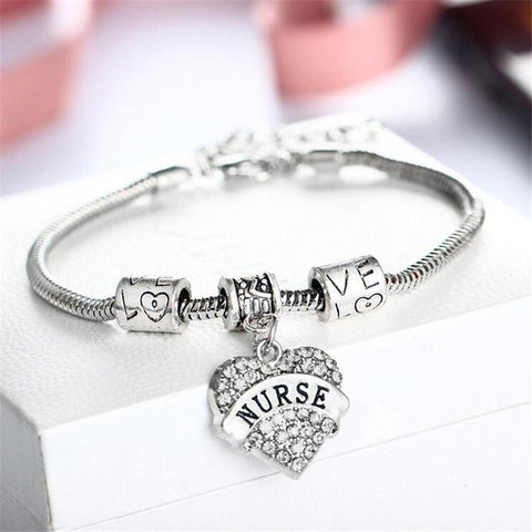 2017 Women's Chain Link Nurse Bracelet for $2.90 at Tangled Teez