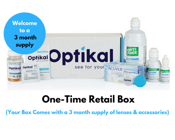 Optikal One-Time Retail Box for Bi-Weekly Lenses