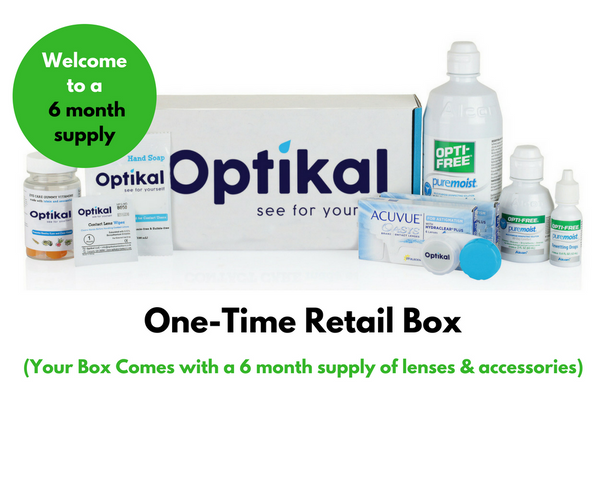 Optikal One-Time Retail Box for Color Monthly Lenses