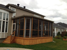 Cedar addition with enclosed screen.